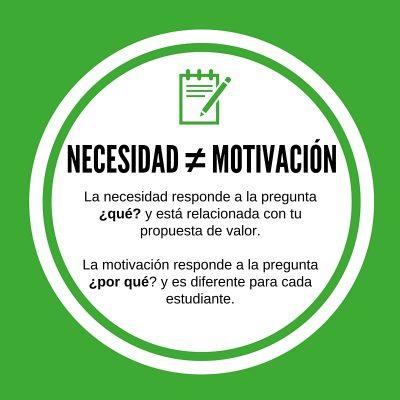 necesidad es diferente a motivación